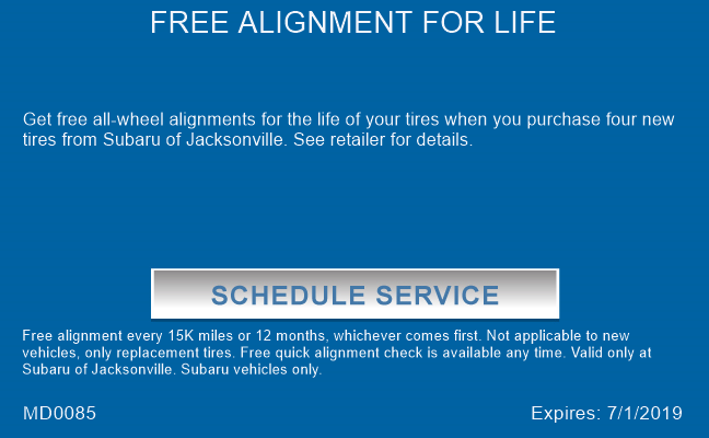 FREE ALIGNMENT FOR LIFE